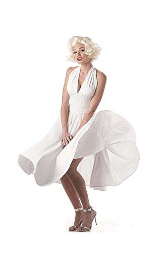 Monroe Marilyn Kleid Kostüm - Generique - Sexy Marilyn Kostüm Filmstar weiß L (42/44)