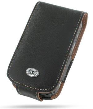EIXO Luxus Ledertasche BiColor für HTC Trinity P3600 Flip Style, Flipstyle, Lederhülle, Ledercase, Lederetui, PDA Hülle, Case, Etui
