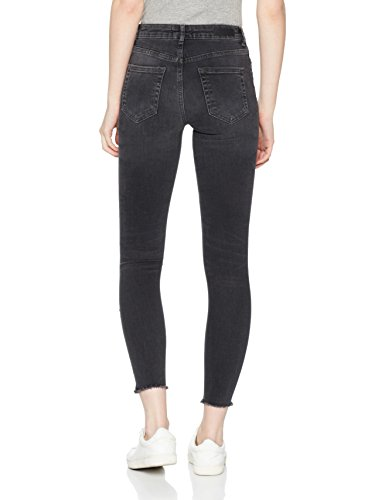 PIECES Damen Skinny Jeans Grau (Light Grey Denim Light Grey Denim)