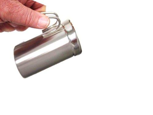 Milchkännchen /Aufschäumkännchen zum Aufschäumen Edelstahl 350 ml Edelstahl-Milch-Schalen-Aufschäumen von Milch Pitcher Milchkrug silber