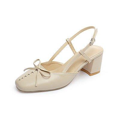 LvYuan Da donna Sandali Comoda Vernice Primavera Estate Casual Comoda Fiocco Fibbia Quadrato Beige Marrone 2,5 - 4,5 cm beige