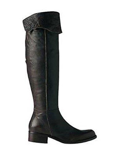 Over knee stivali di pelle marrone scuro Apart Marrone (blu scuro)