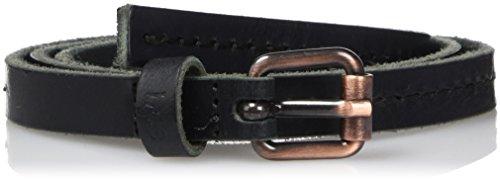 Lee THIN STITCHED BELT BLACK, Cintura Donna, Nero (BLACK), 85 cm