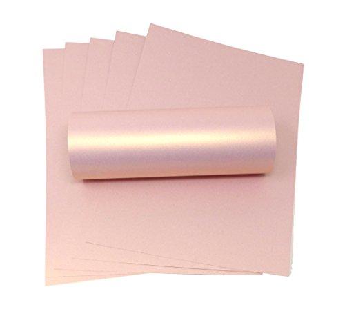 Karton, A4, Rosa, mit goldfarbenem Perlglanz, 300 g/m² rose