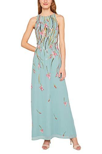 ESPRIT Collection Damen 049EO1E014 Kleid, Grün (Dusty Green 335), Herstellergröße: 32 (Frauen Blumen-print-kleid Für)