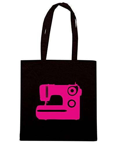 T-Shirtshock - Borsa Shopping MAT0071 Sewing Machine Maglietta Nero