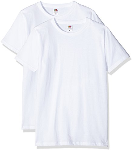 Fruit of the Loom Herren T-Shirt Valueweight Fitted T Weiß (White)