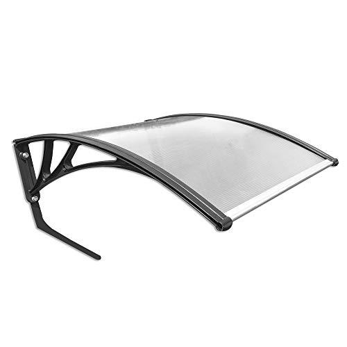 LARS360 Dach Carport für Rasenroboter Automower Mähroboter Garage für Rasenmäher Roboter Polycarbonat Regenschutz Sonnenschutz Pultvordach Dach Haustürvordach, 103 x 77 x 45,5 cm