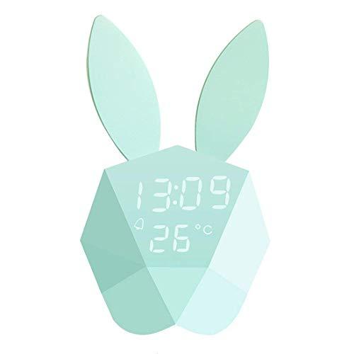 Wecker Digitale Tischuhr LED Digitaluhr Kinder Smart Clock Nachtlicht Rabbit Lampe Nachttisch Nachtlampe für Zuhause Schlafzimmer Office Kids Teens