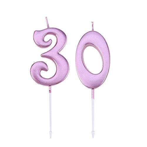 burtstagstorte Kerze 30 Anzahl Dekoration Kerze Decotativ Kuchen Cupcake Topper Kerzen Party Supplies (Golden) ()