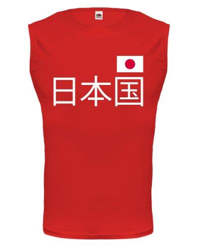 buXsbaum® Tank Top Japan (Schriftzeichen) Red-