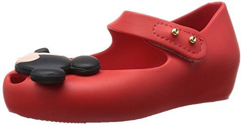MINI MELISSA -Ballerina rossa in plastica MELFLEX, gomma profumata, di Topolino e Minnie , scarpa Disney, Bambina-22/23