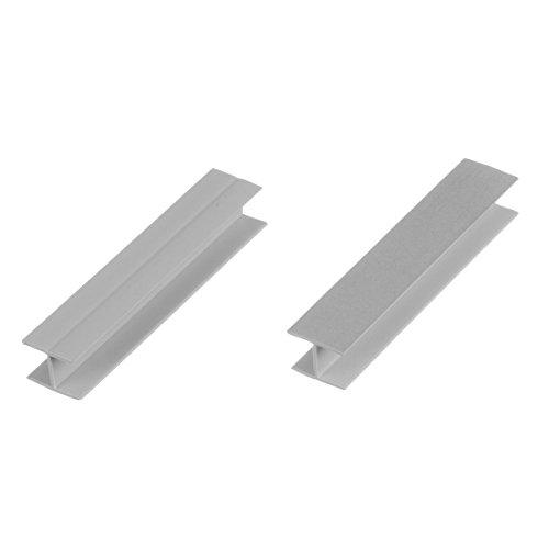 HOLZBRINK Verbinder Sockelblende Sockelleiste für Einbauküche 100mm Höhe ALUMINIUM Satin - HBK10