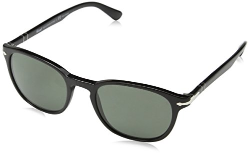 Persol Herren 0PO3148S Sonnenbrille, Schwarz (Black/Polargreen), 53