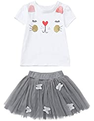 Sasstaids S/äuglinge Set Kleinkind Kinder Baby M/ädchen Gestreifte R/üschen Tops T Shirt Stirnband Outfits Sets Hosen
