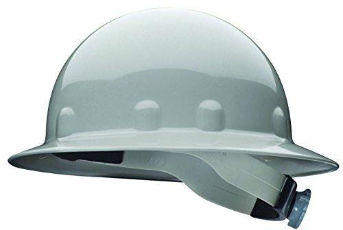 Fibre-Metal by Honeywell E1RW09A000 Super Eight Full Brim Ratchet Hard Hat, Grey