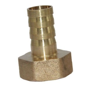 ELECTROPRIME Brass Fitting 12mm Hose Barbed 1/2' NPT Female Quick Joint Connector Coupler