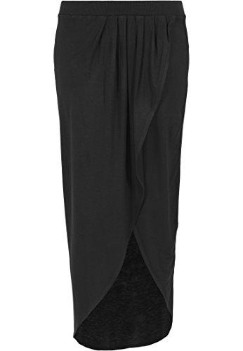 Urban Classics - Rock Long Viscon Skirt, Gonna Donna, Nero (Schwarz), X-Large (Taglia Produttore: X-Large)