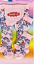 Heless Puppenkleidung 760 - Strumpfhose mit Söckchen, rosa-bunt gemustert, für kleine Puppen (Gemusterte Söckchen)