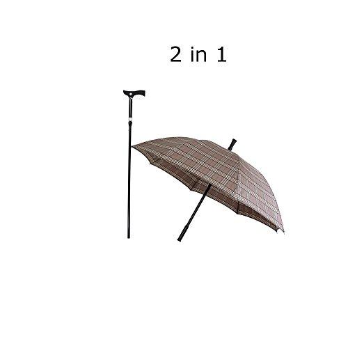 2 in 1 Gehstock mit Schirm,hell Gehhilfe Laufhilfe Alltagshilfe Regenschirm