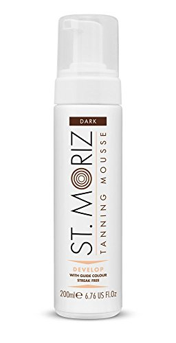 St Moriz Self Tan Range Instant Self Tanning Mousse Dark 200ml (Self Mousse Tanning Instant)