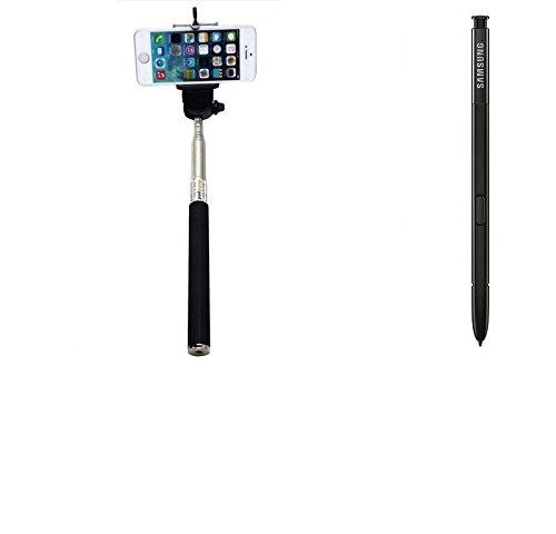 K-S-Trade für Samsung Galaxy Note 8 Selfie Stick Selfiestick kabelgebunden Monopod mit Kabel Stab Stange Selfportrait Handheldstick für Samsung Galaxy Note 8 schwarz
