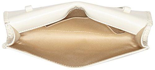 kaviar gauche Braided Envelope Clutch w. strap, Sacs bandoulière Blanc - Weiß (ivory/silver)