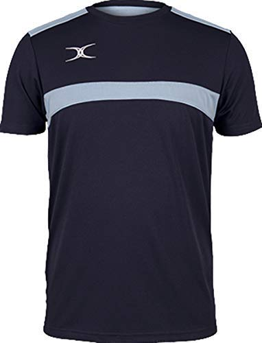 Gilbert Rugby Sport Photon T-Shirt Top T-Shirt - Dunkel-Marineblau/Himmel, 7-8