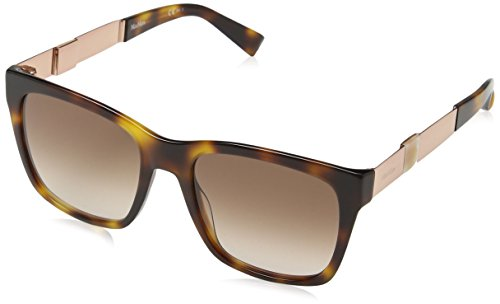 Max Mara Damen MM STONE I JD HWH 54 Sonnenbrille, Rot (Hvn Red Gold/Brown Sf),
