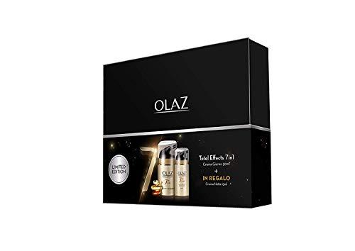 Olaz Total Effects 7 in 1 Crema Viso Anti-Età Beauty Box Crema Giorno 50 ml e Crema Notte 15 ml, Idea Regalo San Valentino