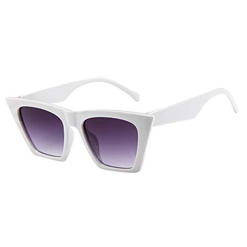 Mode Damen Oversized Übergroße Sonnenbrille Vintage Retro Mode Katzenauge Brille Sonnenbrille Super Coole Damenbrillen Frauen Cat Eye Sunglasses Sonnenbrille (Weiß)