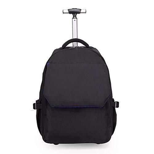 TYUIO Neues Antifouling-Design Human Engineering Design Laptop-Rollrucksack mit Rollen für Mädchen (Color : Black) (Jahr Halloween-tag In Diesem Wann Ist)