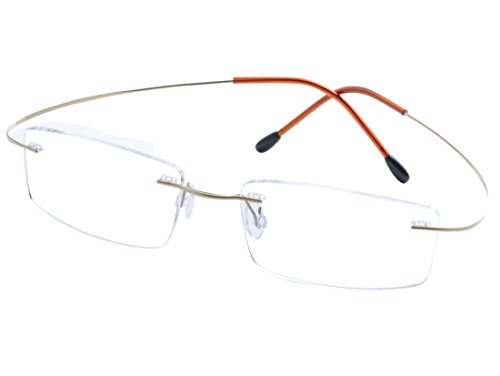DEDING Titan randlose Brille Brillenfassung (Gold)
