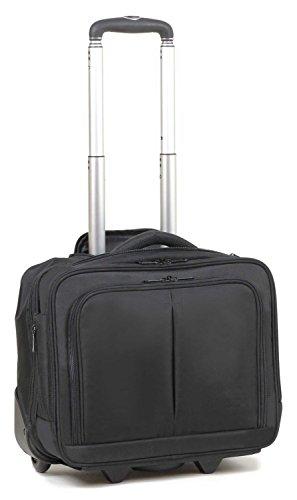 Maleta ABS para ordenador Maletín portátil iPad equipaje de mano con ruedas (215 Negro)