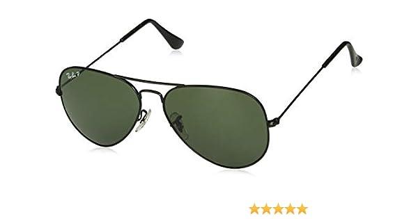 c2742806dc85 Ray-Ban Unisex RB3025 Aviator Sunglasses 58mm, Black, 58 mm: Ray-Ban ...
