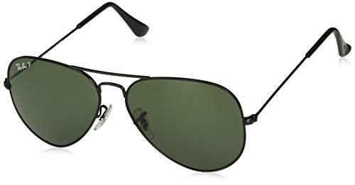 Ray-Ban Herren Flieger Polarisierte Sonnenbrille RB3025, Schwarz, One Size