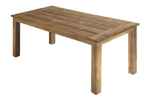 Home-Feeling Table à Manger Table en Teck recyclé Look rétro Table en Bois Table en Teck 160 x 90 x 75 cm