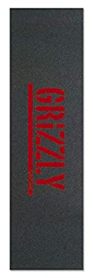 """Grizzly Stamp Print MSA red 9"""" Griptape"""