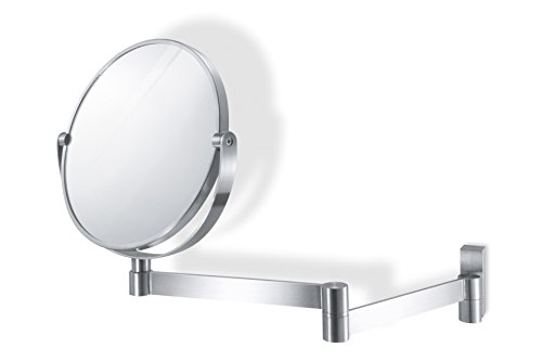 Zack 40109'LINEA Kosmetikspiegel rund, Edelstahl matt, Glas