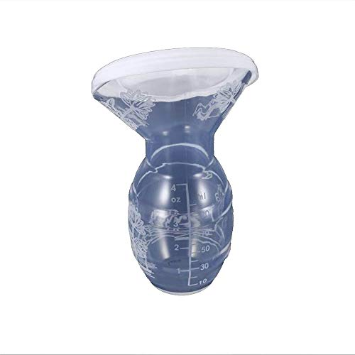 Silicone Tiralatte manuale per l\'allattamento al seno Risparmiatore di latte Pompa di aspirazione Stopper Vacuum Sealed Collezione automatica di latte materno (bianca) 1 PZ