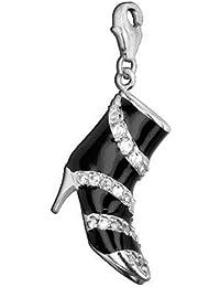 Charm / Einhänger AE finesse, 925 Silber - Sterling Silber, High Heel / Zirkonia weiss