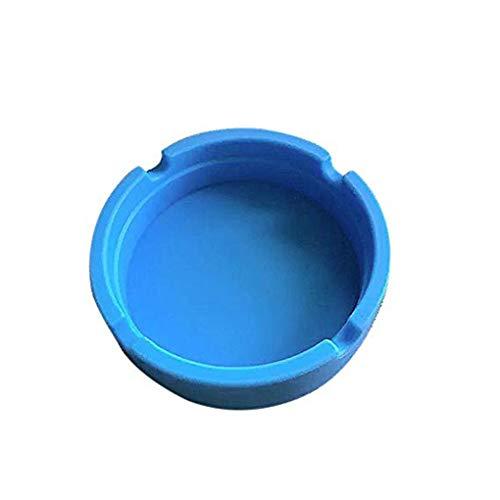 58fc0d17a6df Lorsoul Doblarse portátil Ronda Cenicero Ecológico Colorfull Prima de  Caucho de Silicona de Alta Temperatura sin Humo - Azul