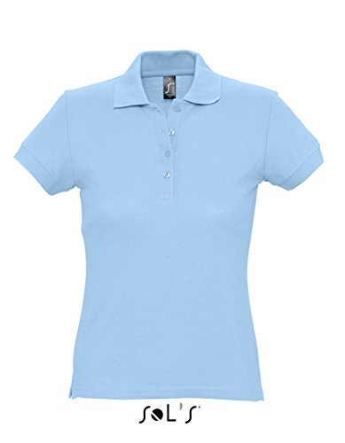 Polo Femme Classe manches courtes simple Sky Blue