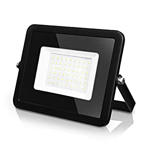 LVWIT Foco Proyector LED 30W, 2700 lm, Foco LED Exterior Blanco Frío, IP65 Impermeable – Floodlight Jadín