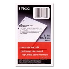 mead-memo-book-refill-6-ring-3-3-4-x-6-3-4-sheets-by-mead