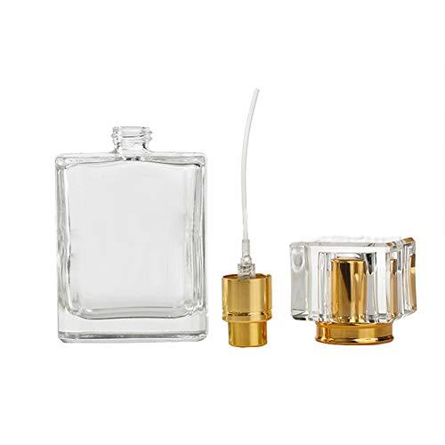Heihy 50ml spray bottiglie di vetro vuote ricaricabili profumo atomizzatore pompa bottiglia per viaggi