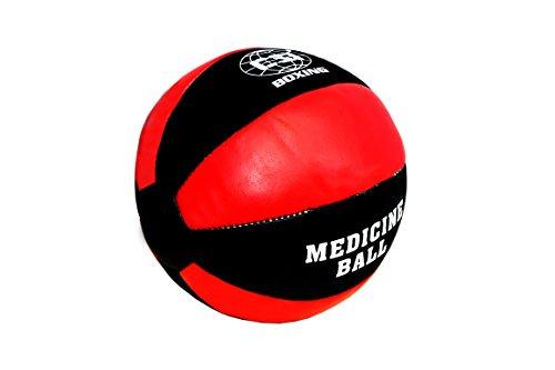 CSI real leather medicine ball 3kg- (red/black)