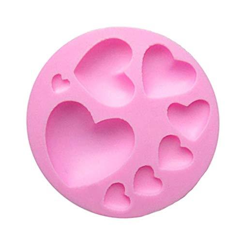 WDYJMALL Herzform Silikon Schokolade Fondant Keks Form Kuchen Dekorieren Backform Herz (Herz Kuchen Dekorieren)
