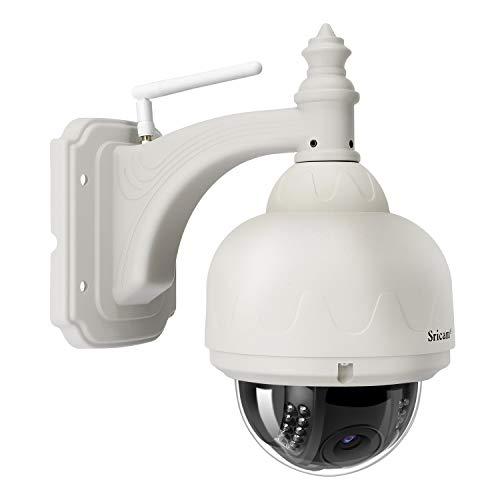 SRICAM SP015 Cámara de Vigilancia IP con IR Vision Nocturna, IP66 Imp
