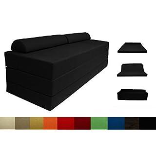 Arketicom SLEEPING MAXI Folding Bed Modern Footstool Sofa Polyurethane Foam Modern Fiori Bianchi